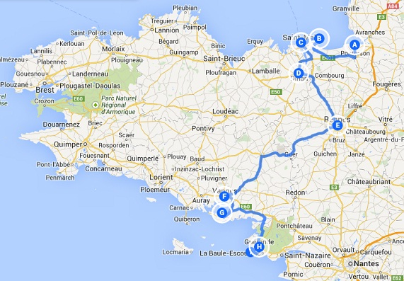 4-day itinerary through eastern Brittany (France)