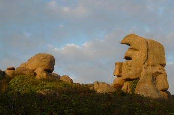 Strange granite rocks in Trebeurden (Bretagne)
