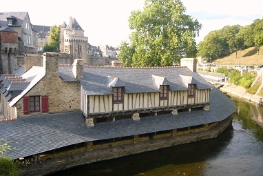 Rich and well preserved heritage in Vannes (France)